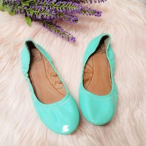 Lucky Brand Erin Green/Mint Ballet Flats Size 10